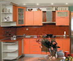Кухня Кухня ЗОВ ЛДСП терра оранжевая