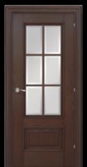 """Межкомнатная дверь Межкомнатная дверь Халес Ромула 1 ДО Коньячный дуб (стекло """"Ф"""", рейка)"""