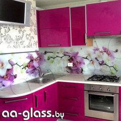 Скинали AA-Glass Скинали 6 из закаленного стекла 6мм + фотопечать (УФ-запекание)