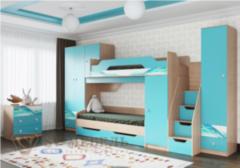 Детская комната Детская комната SV-Мебель Сити 1 (Аква / Белый с фотопечатью)