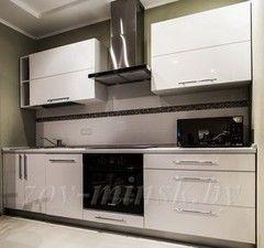 Кухня Кухня на заказ ЗОВ Акрил Белый