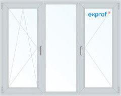 Окно ПВХ Exprof 2060*1420 2К-СП, 6К-П, П/О+Г+П