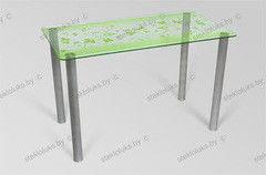 Обеденный стол Обеденный стол Стеклолюкс С 7-05 Бьянка Флора
