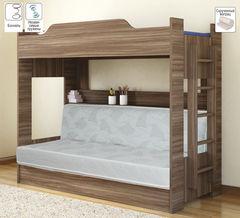 Двухъярусная кровать Боровичи-мебель С диван-кроватью (шимо темный)