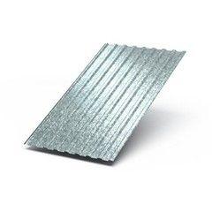 Профнастил Профнастил МеталлПрофиль МП-20х1100-A, B, R 0.55 мм (Цинк, бесцветный)