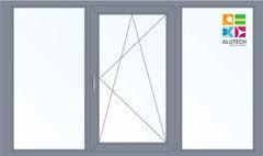 Алюминиевое окно Alutech W72 1800*1400 2К-СП Г+П/О+Г