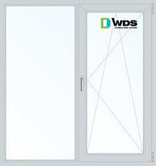Окно ПВХ Окно ПВХ WDS 1300*1400 2К-СП, 5К-П, П/О+Г