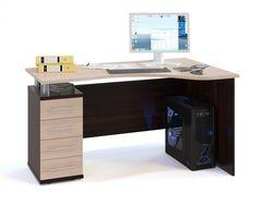 Письменный стол Сокол-Мебель КСТ-104.1Л (венге/беленый дуб1)