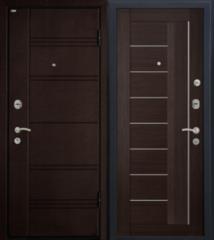 Входная дверь Входная дверь МеталЮр М17 (венге мелинга, матовое стекло)