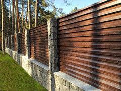 Забор Забор МСК Инвест Забор-жалюзи двухсторонний (тёмный дуб)