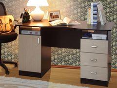 Письменный стол Олмеко Меркурий 2-х тумбовый (венге/дуб линдберг)