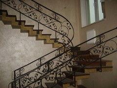 Элементы ограждений и лестниц ИП Нежащий Н.Н. Пример 13 Ограждение лестницы кованное