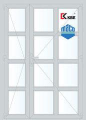 Дверь ПВХ Дверь ПВХ KBE 1350*2100 двустворчатая Модель 71