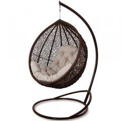 Кресло из ротанга Садовый дворик Веста коричневый