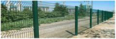 Асвик Ворота распашные из евросетки RAL 6005 3м