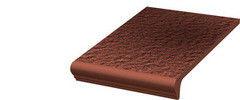 Клинкерная плитка Клинкерная плитка Ceramika Paradyz Cloud Rosa Duro ступень с капиносом прямая 30x33