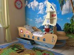 Детская кровать Детская кровать СлавМебель Кораблик 160 (бук/ваниль)