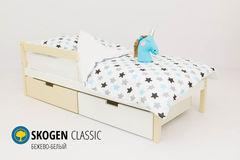 Детская кровать Детская кровать Бельмарко Skogen Classic бежево-белый