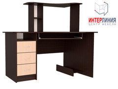 Письменный стол Интерлиния СК-003 Дуб венге+Дуб молочный