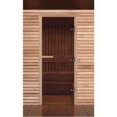 Дверь для бани и сауны Дверь для бани и сауны EcoDoor Бронза прозрачная 1900x700