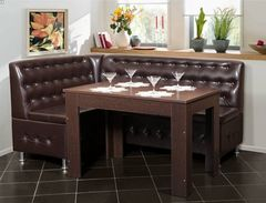 Кухонный уголок, диван АркаСтан Честер (коричневый)