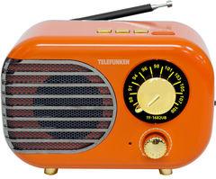 Радиоприемник Радиоприемник TELEFUNKEN Радиоприемник Telefunfen TF-1682UB Orange/Gold