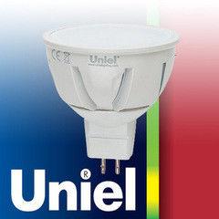 Лампа Лампа Uniel LED-JCDR-7W/NW/GU5.3/FR ALP01WH