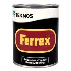 Краска Краска Teknos Ferrex (1 л) красная
