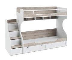 Двухъярусная кровать ТриЯ Ривьера с приставной лестницей СМ 241.11.12