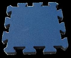 """Резиновая плитка Rubtex Плитка """"Пазл"""" 500x500, толщина 20мм (синяя)"""