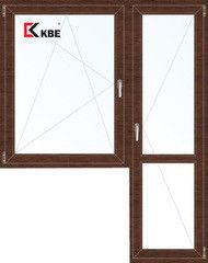 Окно ПВХ KBE 1440*2160 2К-СП, 5К-П, П/О+П ламинированное (темное дерево)