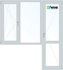Окно ПВХ Окно ПВХ WDS 1860*2160 2К-СП, 5К-П, П/О+Г+П