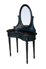 Туалетный столик ГрандМодерн Черный с патиной с деколью