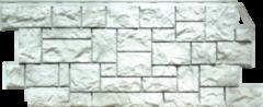 Фасадная панель FineBer Камень дикий (жемчужный)