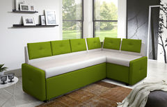 Кухонный уголок, диван ZMF Оскар (бело-зеленый)
