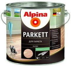 Лак Лак Alpina Parkett (шелковисто-матовый) 10 л