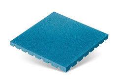 """Резиновая плитка Rubtex Плитка """"Грунт"""" 500x500 (толщина 40 мм, голубая)"""