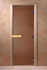 Дверь для бани и сауны Дверь для бани и сауны Doorwood Бронза матовая 6мм