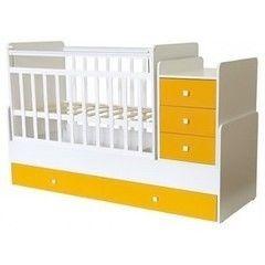 Детская кровать Кроватка Фея 1100 Белый-солнечный