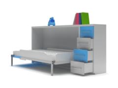 Детская кровать Детская кровать Mebelin бело-голубая