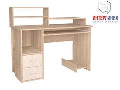 Письменный стол Интерлиния СК-009 Дуб сонома+Дуб белый