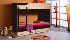 Двухъярусная кровать Шаметько и К Крепыш 01 (венге/дуб молочный)