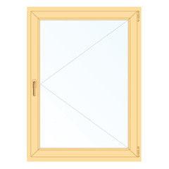 Деревянное окно Сосна для бытовки, котельной, 1с, Модель 1