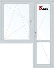 Окно ПВХ Окно ПВХ KBE Эксперт 1440*2160 1К-СП, 5К-П, П/О+П