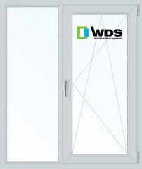 Окно ПВХ Окно ПВХ WDS 1140*1410 2К-СП, 5К-П, Г+П/О