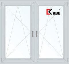 Окно ПВХ Окно ПВХ KBE Эксперт 1460*1400 2К-СП, 5К-П, П/О+П/О
