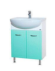 Зеленая мебель для ванной Bellezza Тумба с раковиной Уют 60 см