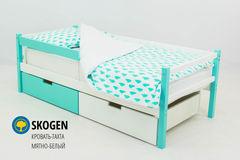 Детская кровать Детская кровать Бельмарко Skogen мятно-белый