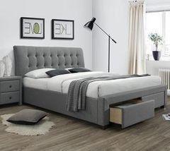 Кровать Кровать Halmar Percy 160x200 (серый)