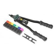 Столярный и слесарный инструмент  Rock Force Заклепочник двуручный резьбовой усиленный со шкалой затяжки от 0-10мм(L - 380мм, резьбовые адаптеры - М3, М4, М5, М6, М8, М10, М12) RF-67805